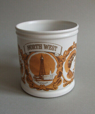 Denby Vintage Retro Large Mug North West England Blackpool Chester Liverpool • 3.49£