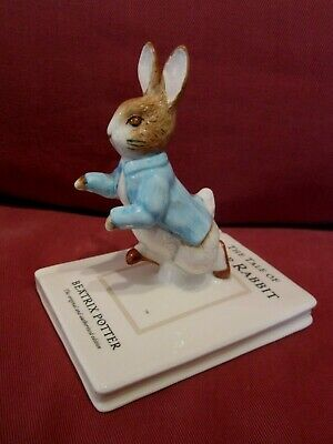 Wonderful Special Edt Beswick Beatrix Potter Figurine Peter On His Book P4217 • 0.99£