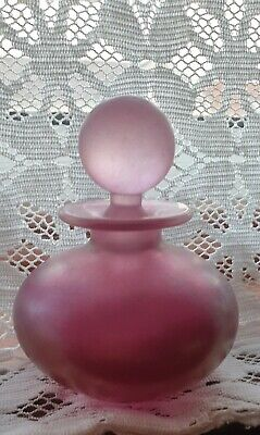 Isle Of Wight Glass Perfume Bottle. Pink • 14.30£