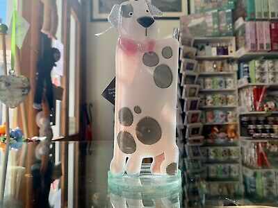 Fused Glass Ornament Puppy Pink - Nobilé Glassware - 599-11 • 24.99£