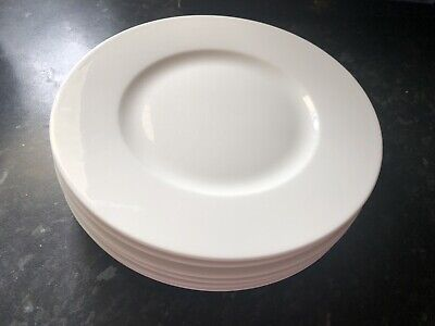 6 X Villeroy & Boch Twist While Salad / Side Plates 8.5 Inches • 35£