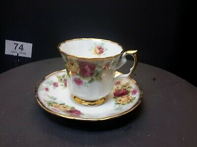 Vintage Antique Collectable China Tea Cup - Saucer  Queen's Fine Bone China • 10£
