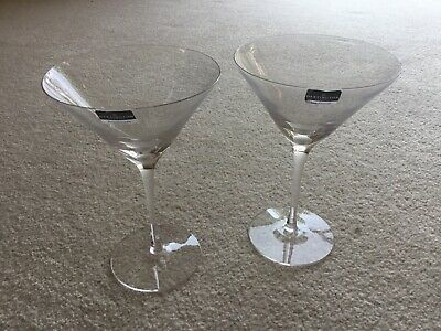 Dartington Crystal Martini Cocktail Glasses Pair In Box • 12£