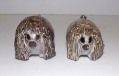 Briglin Pottery Pair Of Dougal The Dog Figurines Circa 1960s In Red Earthenware • 6.25£