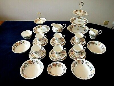Attractive 6 Place Tea Set By Paragon / Royal Albert In The Country Lane Pattern • 59.99£