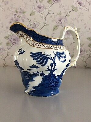 """Vintage BOOTHS """"Real Old Willow  Large 1.5 Pint/6.25 Inch Jug In VGC (A8025) • 20£"""