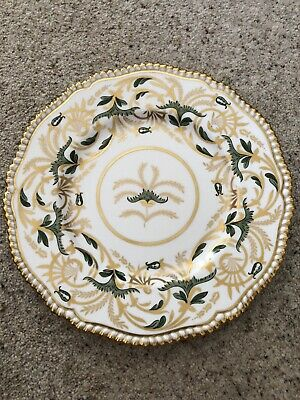 """Spode Plate 10.5"""" VGC Gold And Dark Green Pattern • 9.50£"""
