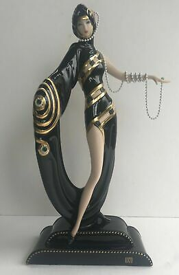 Franklin Mint House Of Erte Pearls & Emeralds Figurine Limited Edition No.Q0440 • 80£