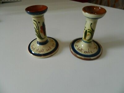 Two  Torquay Wear Candlesticks - Walcombe  And Allervale • 23£