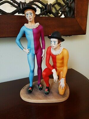 Signed Border Fine Arts Ben Blacks Clowns Sculpture • 125£