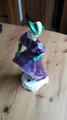 Adderley Floral Bone China Figurine - The Can Can  Violette  • 35£