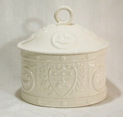 Vintage Royal Creamware 'Occasions' Fine China Oval Jar & Lid • 34.99£