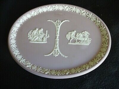 Wedgwood Lilac/Lavender Jasperware Two Tone Plaque/Tray 10  Long • 39.99£