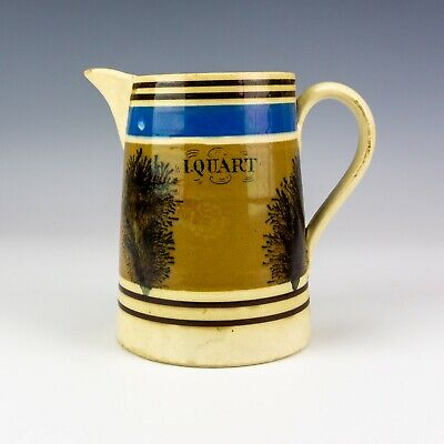Antique Mocha Ware - Tree Decorated Banded Jug - Lovely! • 0.99£