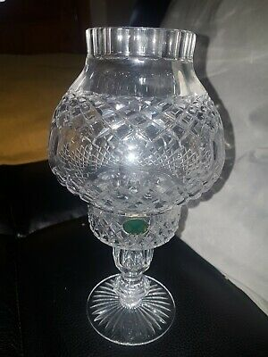 Tyrone Crystal Hurricane Lamp Light Table Candle Holder  • 24£
