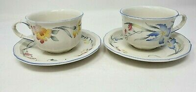 Villeroy & And Boch Riviera 2 X 3.5 Inch Diameter Squat Tea Cup And Saucer • 19.99£
