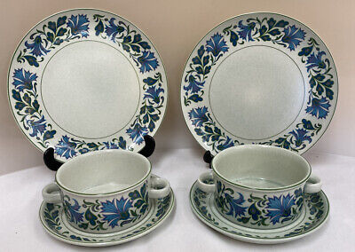 Pair Of Midwinter 'Stonehenge' Soup Bowls, Plate & Side Plates (D3) • 9.99£