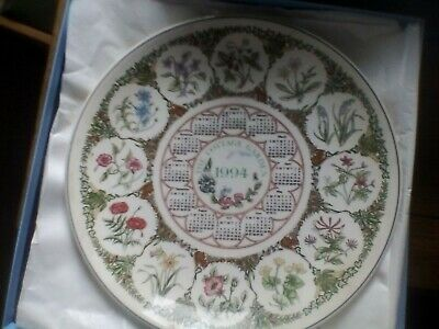 Wedgwood Calendar Plate - 1994 - The Cottage Garden - In Box • 5£