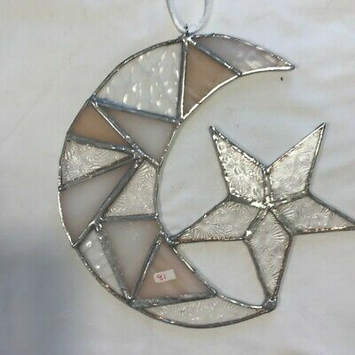 Stained Glass Sun And Moon Suncatcher • 15£