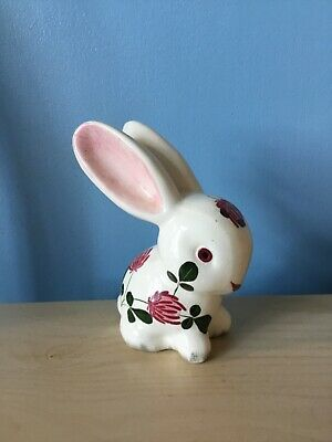 Vintage Wemyss Bovey Plichta Bunny Rabbit  Decorated With Flowering Clover • 5.69£