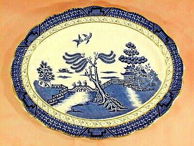 A Large Platter Consisting Of Booths 'real Old Willow' China • 19.99£