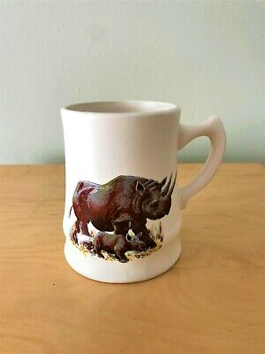 Collectable Rare Vintage Axe Vale Pottery Devon Rhinoceros Cup Mug Beer Stein  • 9.50£