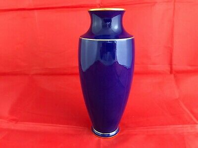 ANTIQUE SEVRES FRENCH PORCELAIN BLUE VASE C1904 • 69.99£