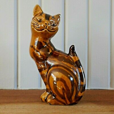 Vintage Pottery Cheshire Cat Signed A J. Mid Century Retro. • 17.50£
