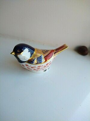Royal Crown Derby Bird Paperweight Coal Tit Gold Stopper 2005 Used- Unboxed • 26£