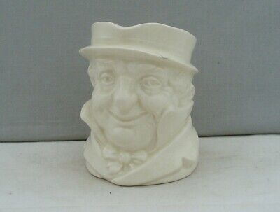 ROYAL DOULTON CHARACTER JUG CAP'N CUTTLE WHITE GLAZED 1930s UNUSUAL 'MID' SIZE • 9.99£