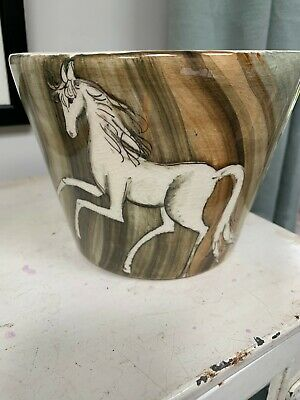 Signed Lauriana Studio Pottery Vintage Planter • 12£