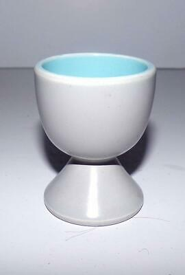 Poole Pottery Pedestal Egg Cup Glazed In Twintone C104 Sky Blue & Dove Grey • 4.95£