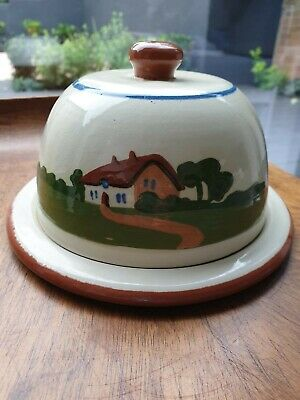 Vintage Motto Ware Dartmouth Pottery Cottage Butter Dish • 8£