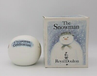 Very Rare Royal Doulton Snowman Christmas Celebration Money Ball In Original Box • 99£