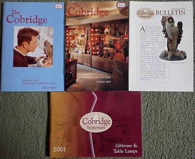 2001 Cobridge Stoneware (Moorcroft Subsidiary) Magazines & Catalogue • 1£