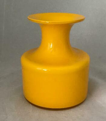 Holmegaard Yellow & White Encased Carnaby Vase Smallest Of The 3 This Shape • 75£