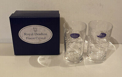 Royal Doulton Finest Crystal Set Of Two Glasses • 24.95£
