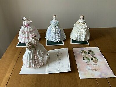 """Coalport Figurines  """"Four Flowers Collection""""limited Edition • 370£"""