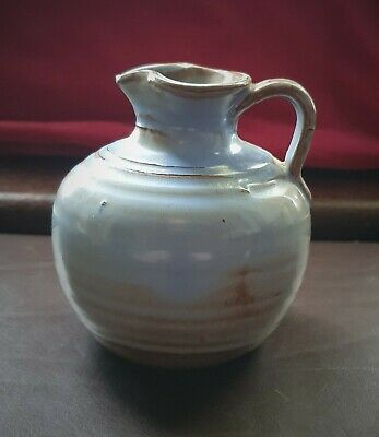 Vintage Prinknash Pottery England Small Cream/Milk Jug In Trad Blue & Brown • 9.99£