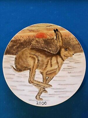 Moorcroft Cobridge Stoneware 2000 Year Plate - Running Hare Ltd Ed 12/200 • 125£