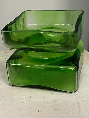 Riiahimaki  Pala' Riihimaen By Helena Tynell Green Boxed Vintage Glass Vase • 40£