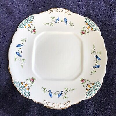 Vintage Taylor And Kent Cute Birds Garden Plate  • 6£