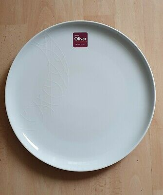 Jamie Oliver Royal Worcester White On White Big Fella 30cm Plates X 2 BRAND NEW! • 9.99£