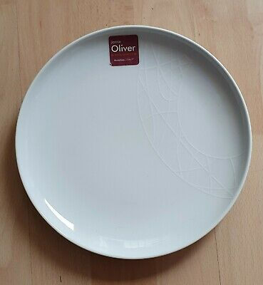 Jamie Oliver Royal Worcester White On White Munchies 23cm  Plates X 2 BRAND NEW! • 51£