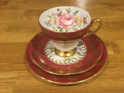 Vintage Foley EB 1850 Tea Cup, Saucer And Plate • 22£
