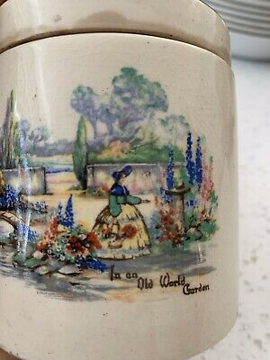 Sandland Ware Lancaster & Sandland Vintage Jar - In An Old World Garden Rare • 9£