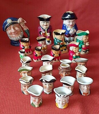 Lot Of Miniature Toby Jugs (Oct318) - Collection Only Weymouth • 4.99£