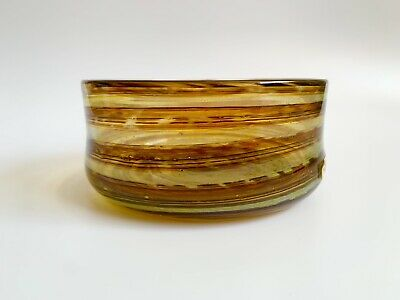 Rare Old Label Isle Of Wight Earth Tones Bowl Signed Flame Mark Micheal Harris • 0.99£