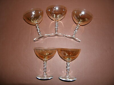 Vintage Champagne Saucers / Cocktail Glasses. • 49.99£
