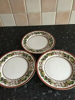3  Spode Christmas Rose Tea  Plates • 16£